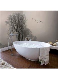 Flying Birds and Tree Pattern Decorative Splicing Waterproof 3D Bathroom Wall Murals