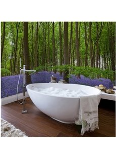 Modern Fashion Green Forest Pattern Waterproof 3D Bathroom Wall Murals