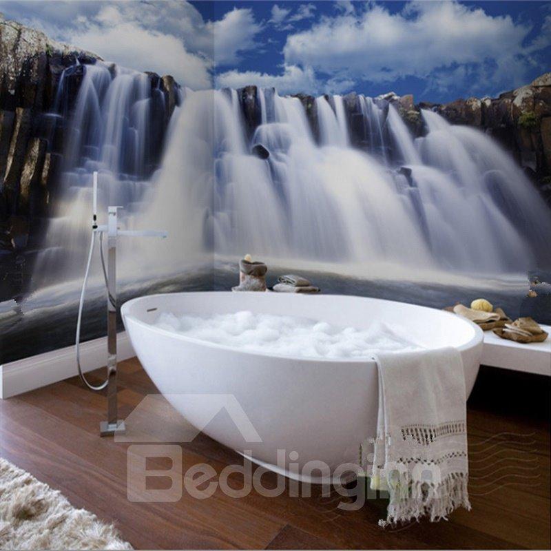 Waterfalls Waterproof Durable and Eco-friendly Bathroom 3D Wall Murals