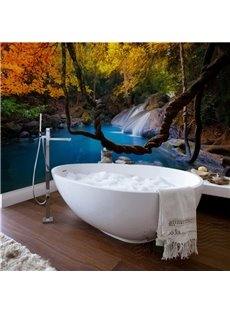 Leisurely Intermountain Stream Scenery Waterproof 3D Bathroom Wall Murals