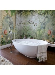 Natural Lush Forest Pattern Design Waterproof 3D Bathroom Wall Murals