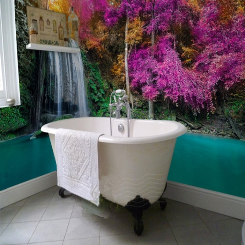 3D Bathroom Wall Murals For You