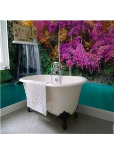 Special Modern Design Waterfall Scenery Waterproof 3D Bathroom Wall Murals