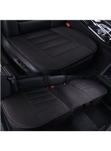 Classic Business Black Style Cost-Effective Durable PET Material 3-Pieces Universal Car Seat Mat