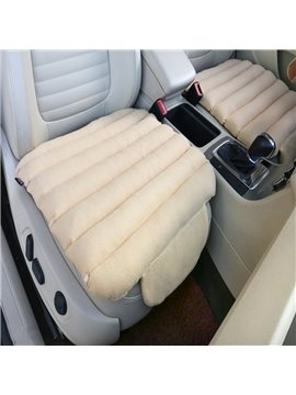 Special 3D Design Velvet Surface Material And High-Grade Cotton Filler 1-Piece Beige Front Car Seat Mat