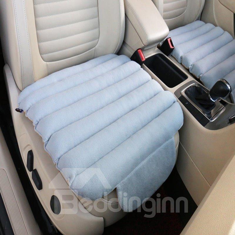 Unique 3D Design Velvet Surface Material And High-Grade Cotton Filler 1-Piece Gray Front Car Seat Mat