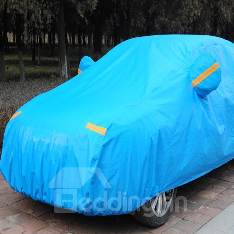 Full Blue Car Body Cover Customed-Fit Popular Non-Woven Fabrics Material Car Sun Shades
