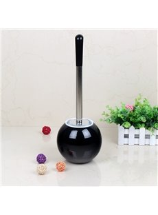 Creative Design Black PVC Toilet Brush and Holder