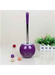 Creative Design Purple PVC Toilet Brush and Holder