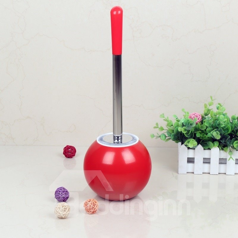 Creative Design Red PVC Toilet Brush and Holder