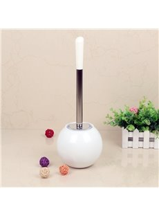 Creative Design White PVC Toilet Brush and Holder