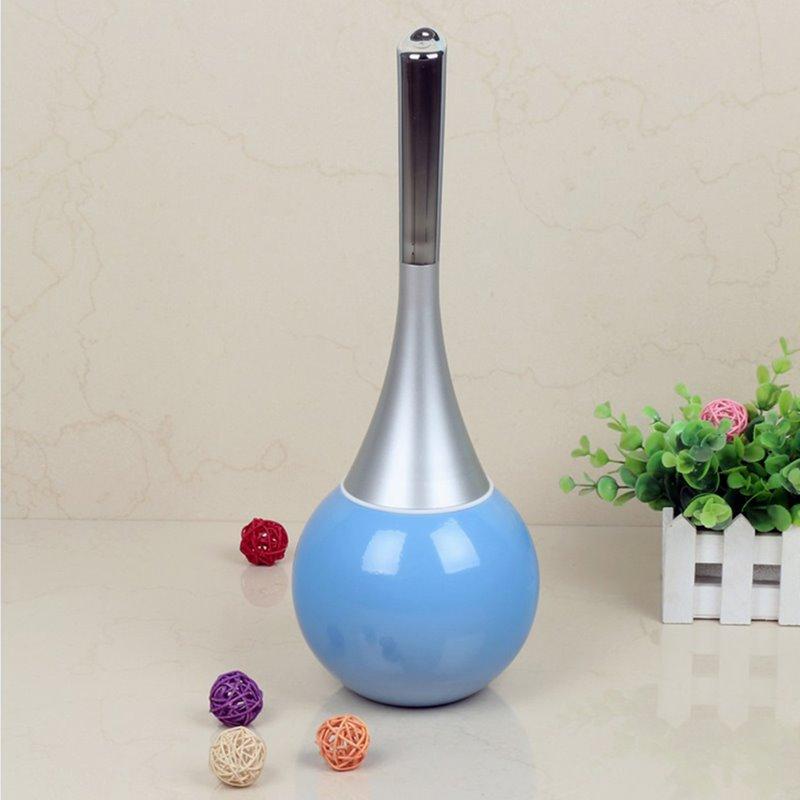 Cute Design Blue Toilet Brush Holder Set