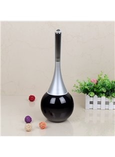 Cute Design Black Toilet Brush Holder Set