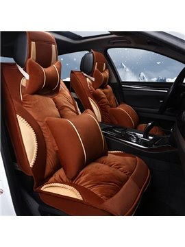 Super Soft Velvet Material Classic Coffee Business Style Universal Car Seat Cover