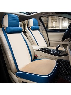 Textured Fashion Coffee Design With Good Permeability Flax Material Universal Car Seat Cover