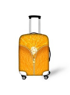 Bright Orange Pattern 3D Painted Luggage Cover