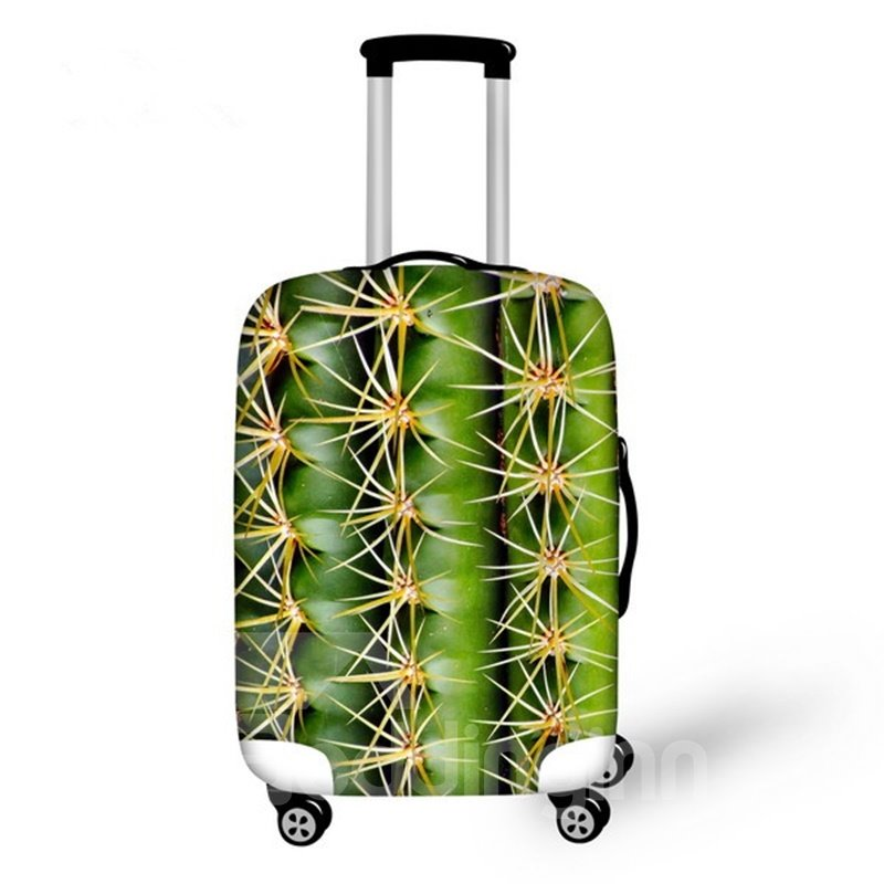Vivid Cactus Pattern 3D Painted Luggage Cover