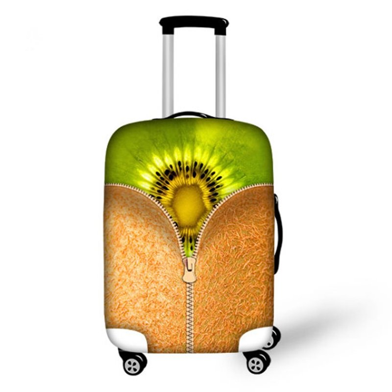 Kiwi Fruit Pattern 3D Painted Luggage Cover