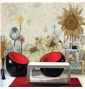 Simple Style Sunflower Pattern Decorative Waterproof 3D Wall Murals