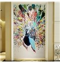 Colorful Peacock Pattern PVC Waterproof and Durable 3D Wall Murals