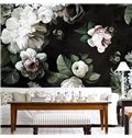 White Flowers Elegant Style PVC Waterproof and Eco-friendly 3D Wall Murals