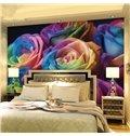 Romantic Colorful Roses Pattern Waterproof Splicing 3D Wall Murals