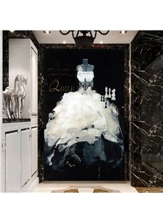 Gorgeous White Queen Dress Pattern Decorative 3D Wall Murals