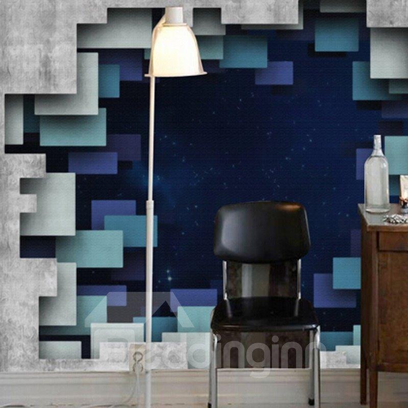 Creative Modern Design Starry Sky through a Hole Pattern Waterproof 3D Wall Murals
