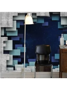 Creative Modern Design Starry Sky through a Hole Pattern Waterproof 3D Wall Murals