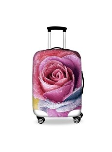 Creative Pink Rose Pattern 3D Painted Luggage Cover