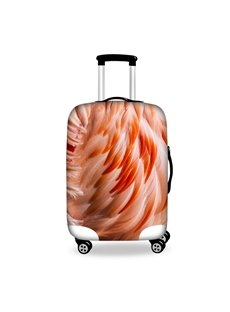 Wonderful Pink Feather Pattern 3D Painted Luggage Cover