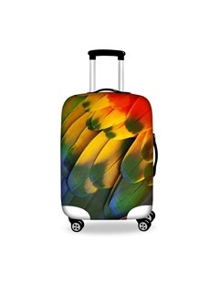 Pretty Yellow Feather Pattern 3D Painted Luggage Cover