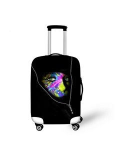 Creative Mysterious Girl in Bag Pattern 3D Painted Luggage Cover