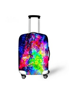 Bright Muticolor Galaxy Pattern 3D Painted Luggage Cover