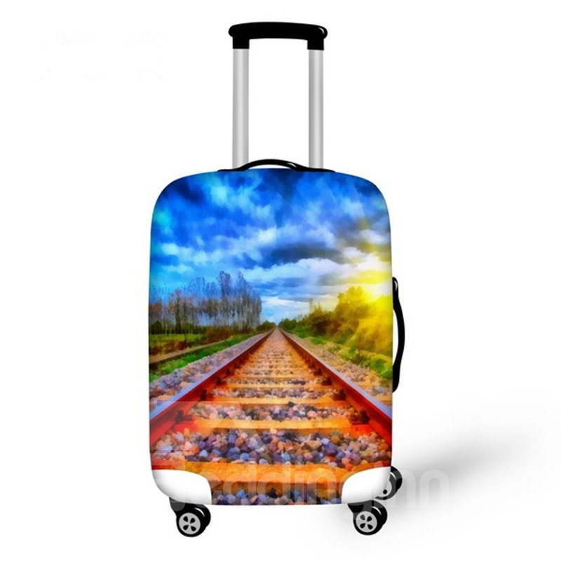Pretty Rail Landscape Pattern 3D Painted Luggage Cover