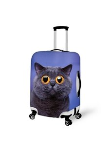 Creative Cat with Big Eyes Pattern 3D Painted Luggage Cover
