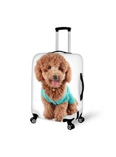 Super Cute Poodle Pattern 3D Painted Luggage Cover