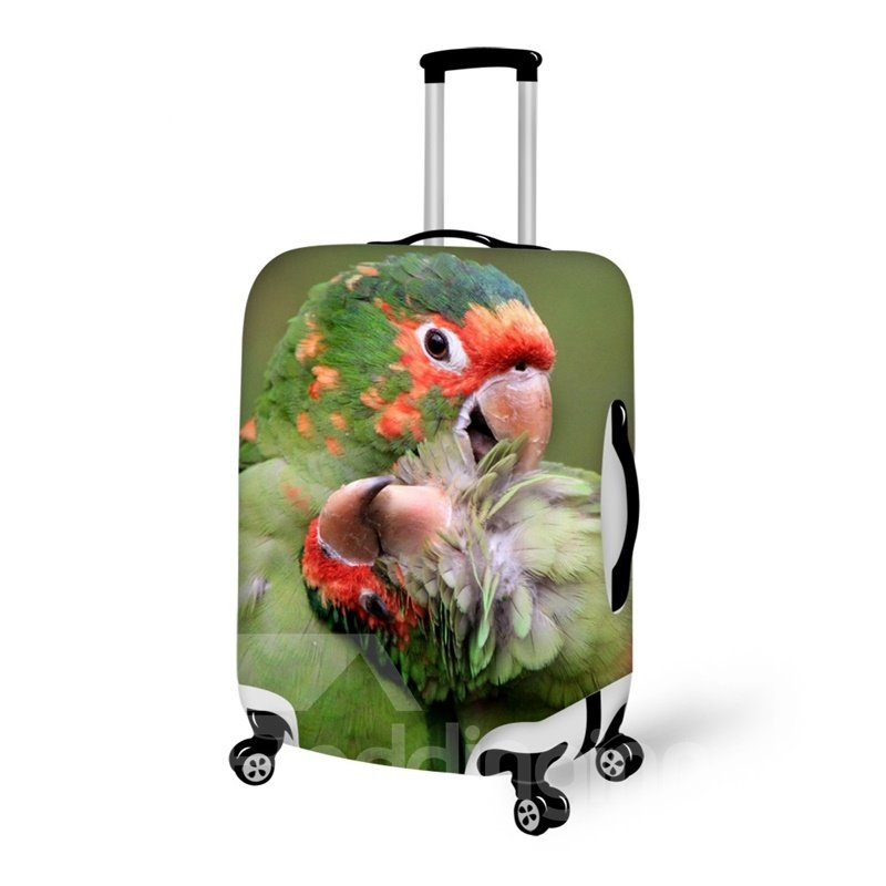 Pretty Parrot Couple Pattern 3D Painted Luggage Cover
