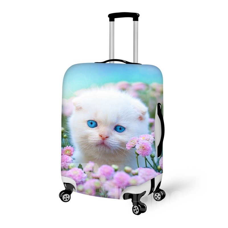 Cute Persian Cat Pattern 3D Painted Luggage Cover