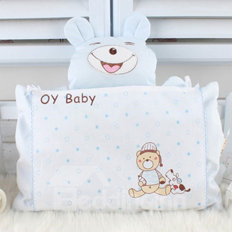 Lovely Cartoon Bear Design Blighted Grain Baby Pillow