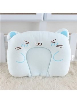 Soft U Shape Cat Pattern Prevent Flat Head Baby Pillow