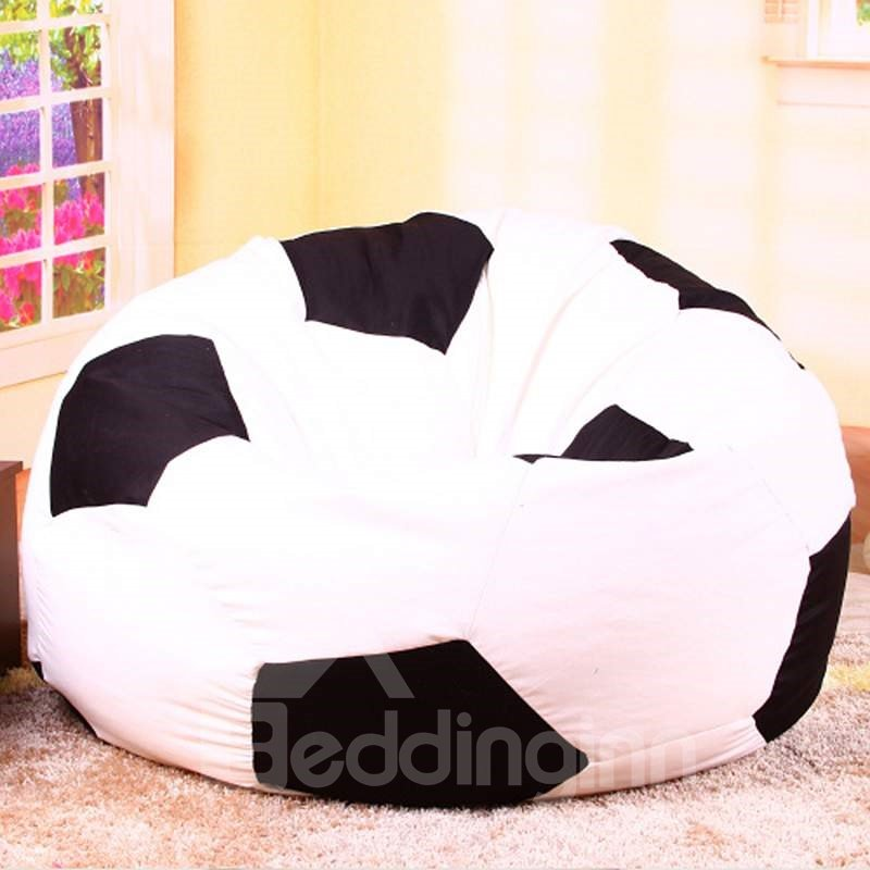 Genial Soft Creative Soccer Ball Design Bean Bag Chair ...