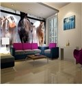 Modern Design Aligned Horses Pattern Decorative 3D Wall Murals