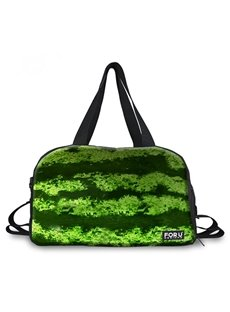Vivid Watermelon Peel Pattern 3D Painted Travel Bag