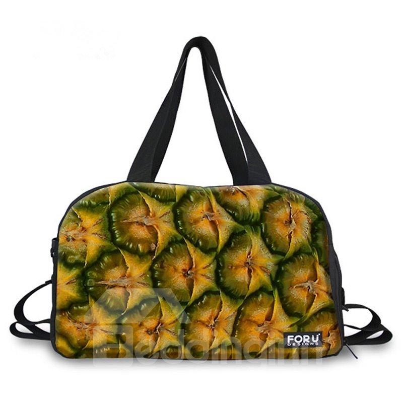 Creative Pineapple Peel Pattern 3D Painted Travel Bag