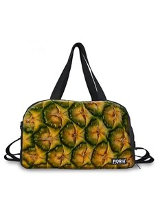 Creative Pineapple Peel Pattern 3D Painted Travel Bag