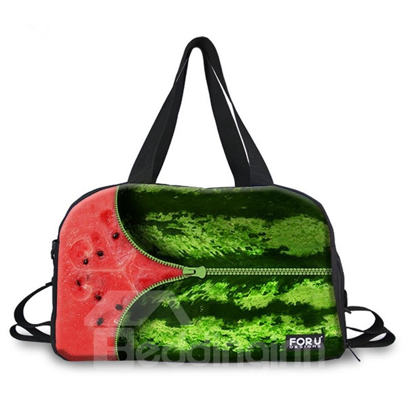 Zipper Watermelon Pattern 3D Painted Travel Bag