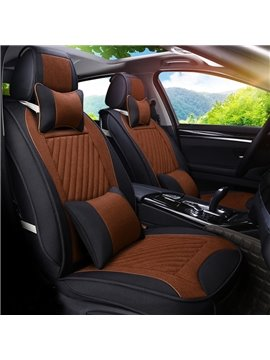 Classic Business With Sporty Combination Durable PET Material Universal Five Car Seat Cover