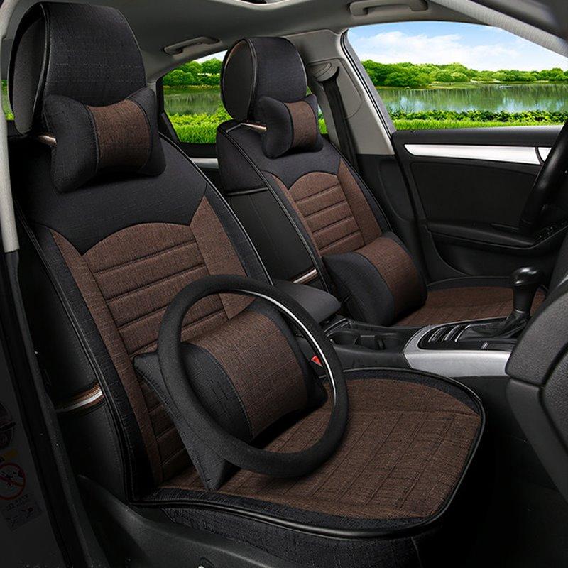 Classic Business Contrast Color Design Durable PET Universal Car Seat Cover