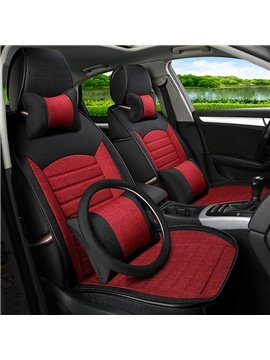 Popular Charming Red Cost-Effective PET Material Universal Five Car Seat Cover